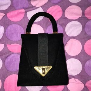 Handbags - Vintage black and gold purse